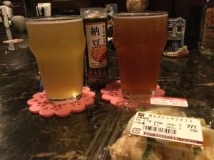 クラフトビールと持込フード